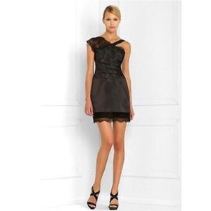 BCBGMaxAzria Night Out Dress Black Lace & Silk 8